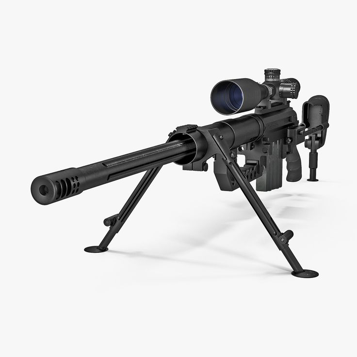 Sniper Rifle Cheytac Intervention 3D Max - 3D Model