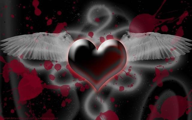 Emo Love Couples Hd Wallpapers And Pictures: Valentines Day Emo Hearts HD Wallpapers