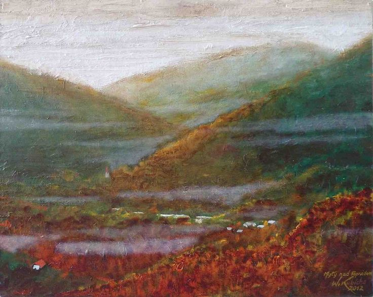Fog over Poprad. Oil on canvas. Author: Witold Kubicha