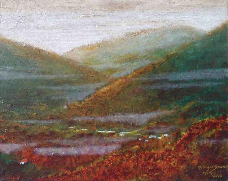 Fog over Poprad. Oil on canvas. Author: Witold Kubicha
