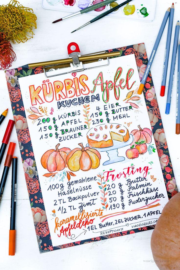 Kaffeeklatsch & Tafelfreuden mit köstlichen Kürbis-Apfelkuchen.