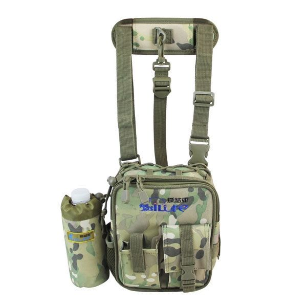 Color: Black, Sand, Camo, Army Green    Material: Oxford Cloth    Weight: Appox. 310g     Length: 17cm(6.69inch)    Width/ Depth: 7cm(2.76inch)    Height: 21cm(8.27inch)                           Package included:    1 * Bag