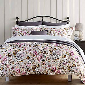 Christy Classic Rose Duvet Cover & Standard Pillowcase Set