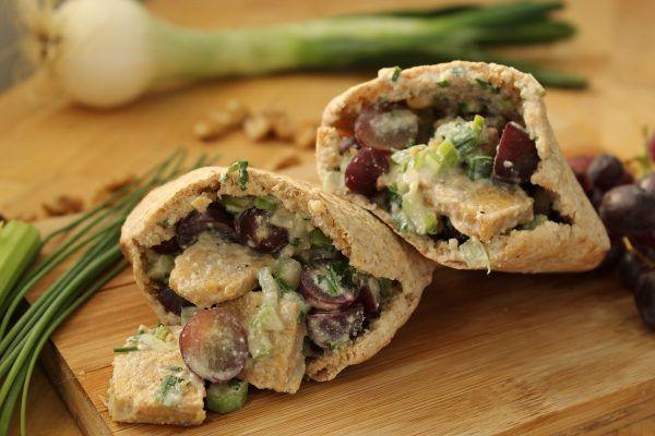 Tempeh No-Chicken Salad Pitas