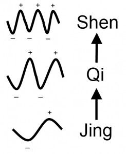 The frequencies of Jing, Qi and Shen