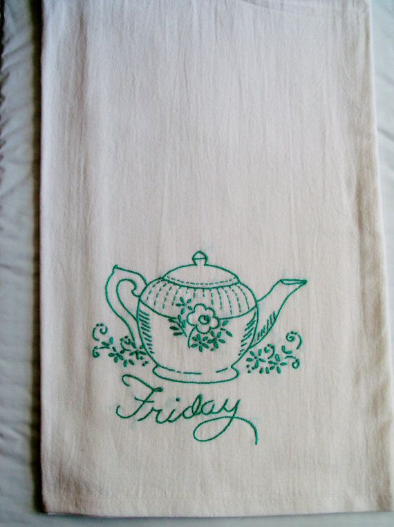 77 best tea towels embroidered images on pinterest | tea towels ...