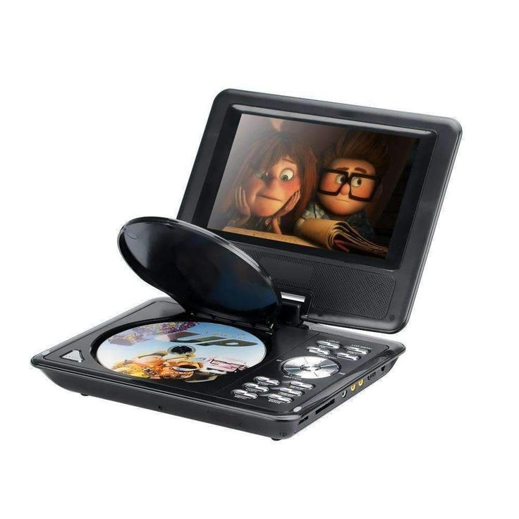 7 Inch kids portable dvd player with 7 inch wide screen display: watch movies, read e-books, or listen to FM music. Now with game controller and TV antenna. Multilanguage support