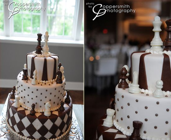 We love chess. Possible wedding cake.