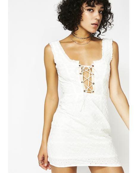 458f8a457d450 Charlotte Eyelet Lace-Up Mini Dress | Wishlist in 2019 | Eyelet lace ...