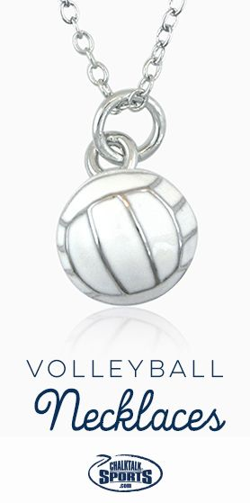 240 best volleyball gifts images on pinterest volleyball gifts there isnt a cuter way to show your love for off the court than with a volleyball necklace they also make great volleyball gifts for the team negle Images