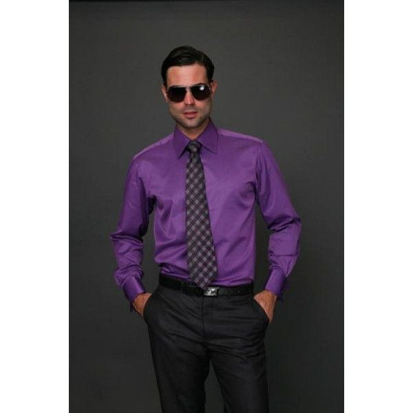 charcoal suit purple shirt and tie - Google Search | FD OUTFITS ...
