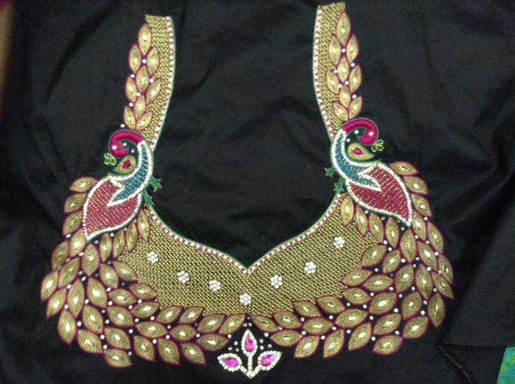 FASHIONERAA: peacock designery blouse