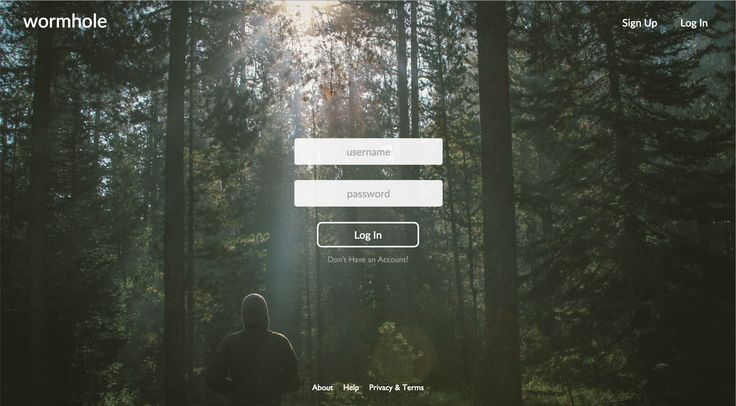 Login page for Wormhole. More