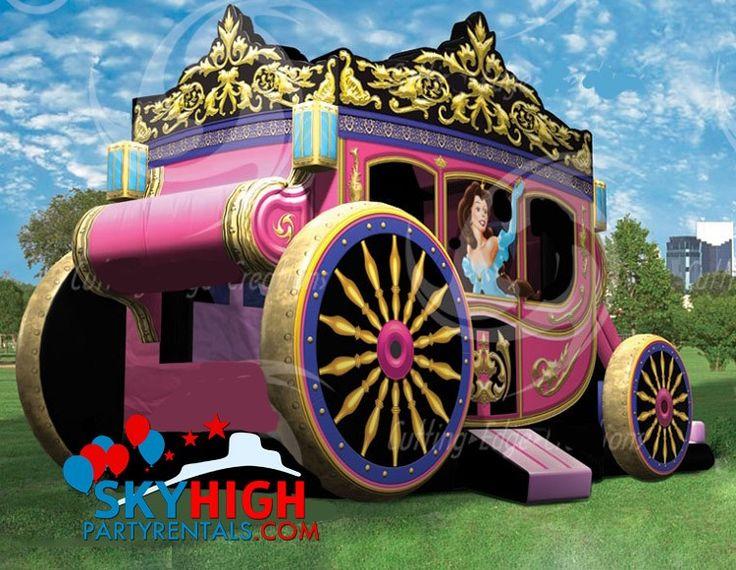 "Princess Carriage moonwalk rentals in Houston - Sky High Party Rentals - AKA ""The Rolls-Royce of Princess Bouncy Castles"""