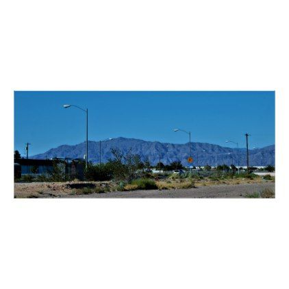 Nevada Desert Highway Poster - outdoor gifts unique cyo personalize