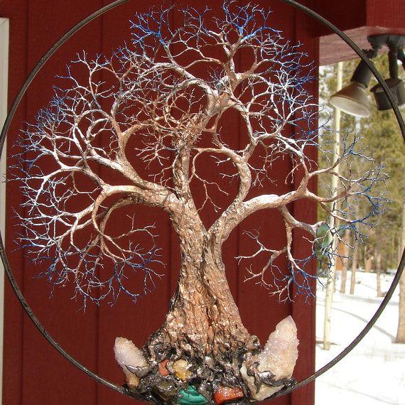 Wire Tree Of Life Grove Tree Spirits Sculpture Amethyst