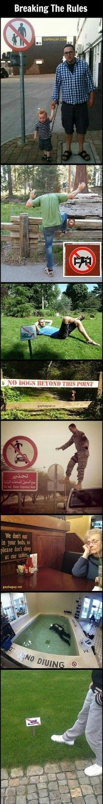 Top 8 Funny Pictures Of People vs. Rules