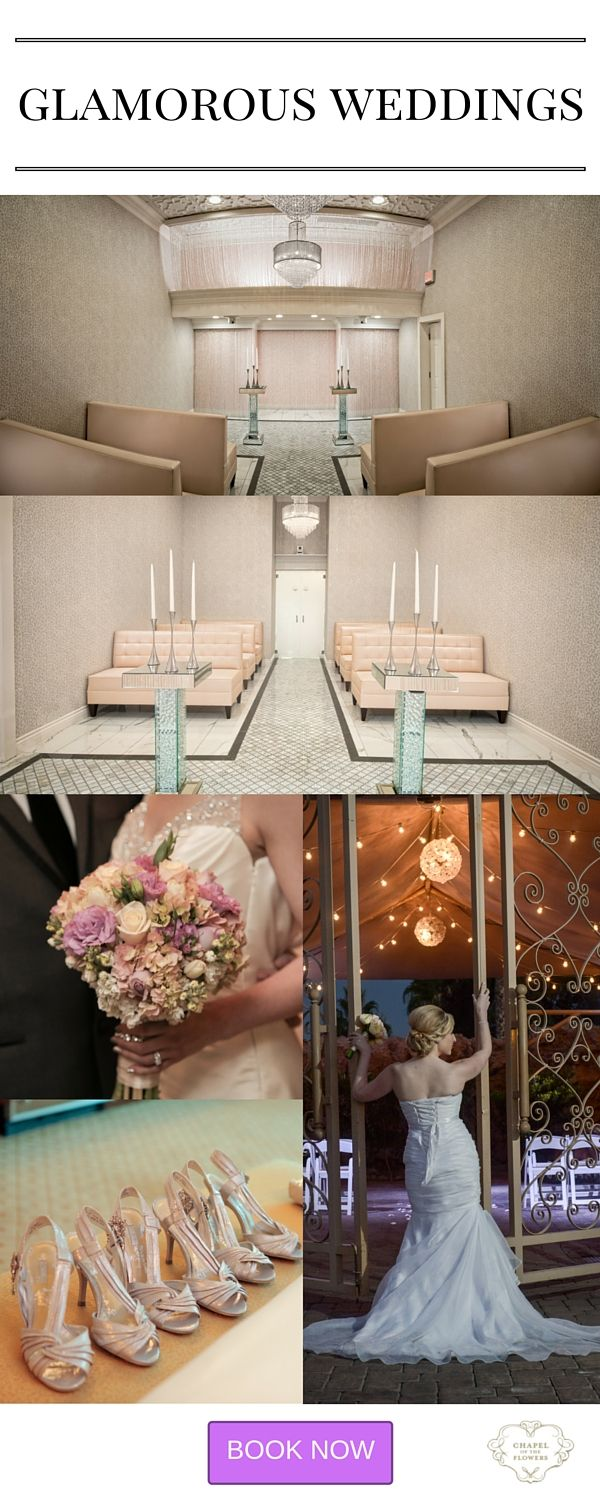Glamorous And Luxurious Weddings From 495 Las Vegas Wedding Venue With Crystals Blush Tones