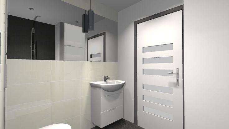 Znalezione obrazy dla zapytania mała minimalistyczna łazienka