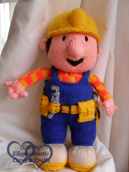 Alan Dart Bob (the blooming) Builder...what a pain he was to knit!! knitted