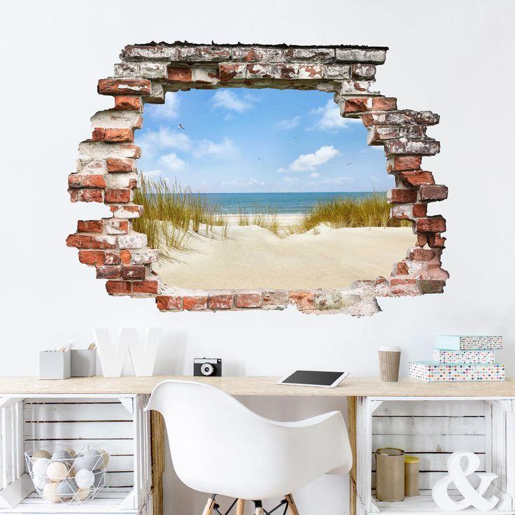 3D Wandtattoo Strand an der Nordsee Quer 3 4 in 2020