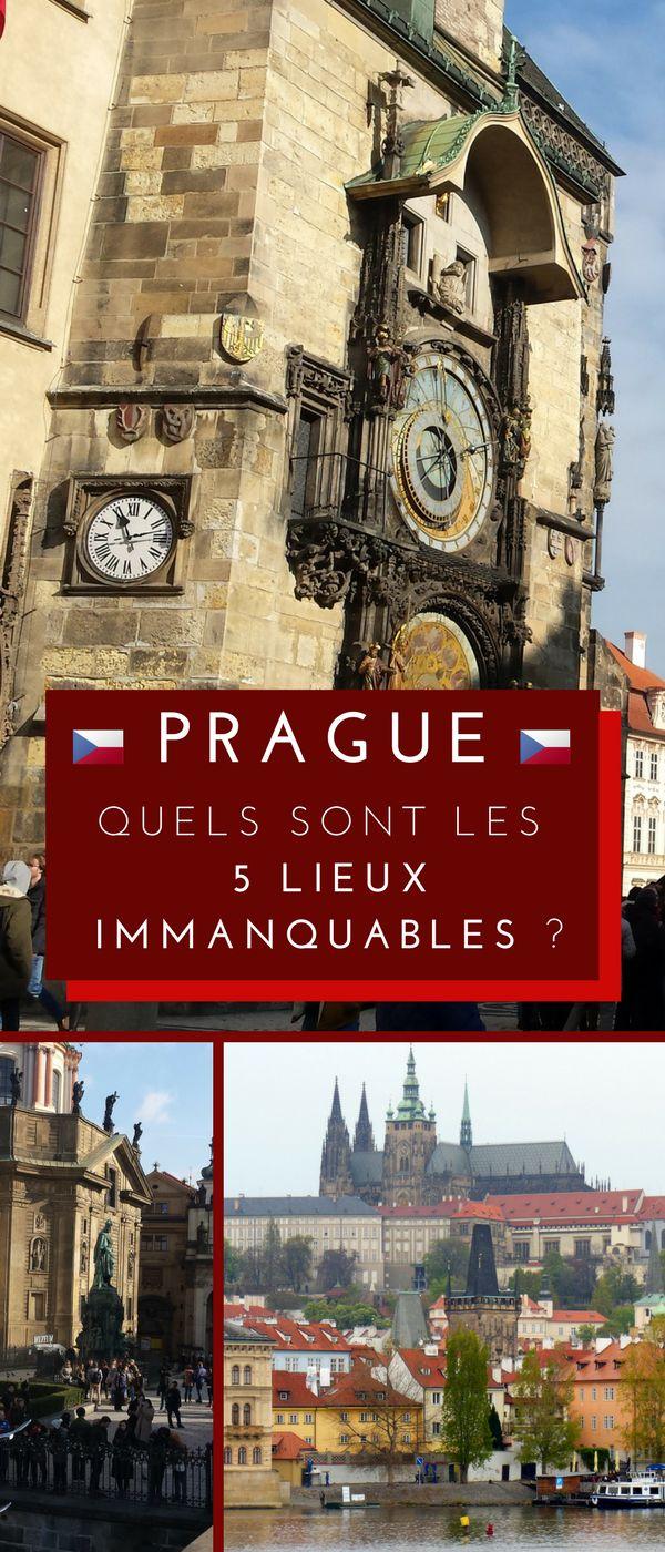 Prague, capitale de la République tchèque, est connue pour être l'une des destinations les plus prisées d'Europe. Véritable carrefour au milieu de l'Europe centrale, Prague est aussi riche en histoire. Voici notre TOP 5 des lieux à ne manquer sous aucun prétexte ! #Prague #Tchéquie #RépubliqueTchèque #Top #Voyage
