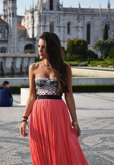 top y falda larga