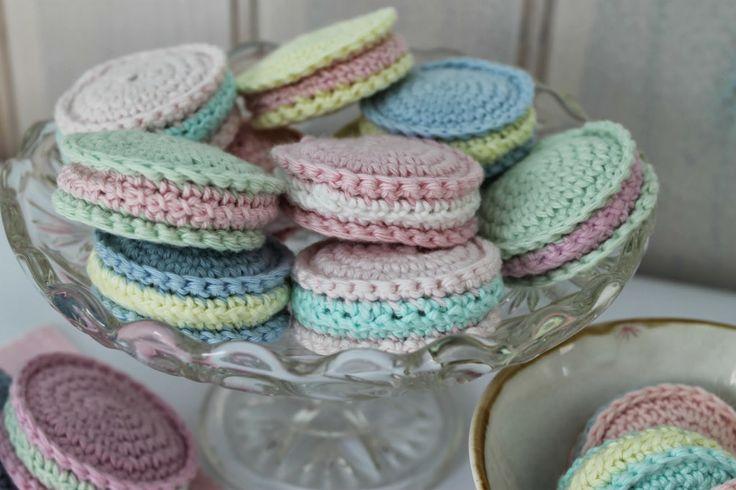 En kreativ verden: Hæklede kager a la macarones. DIY