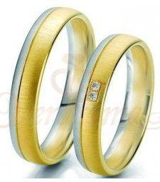 Βέρες γάμου δίχρωμες με διαμάντι Breuning 6229-6230