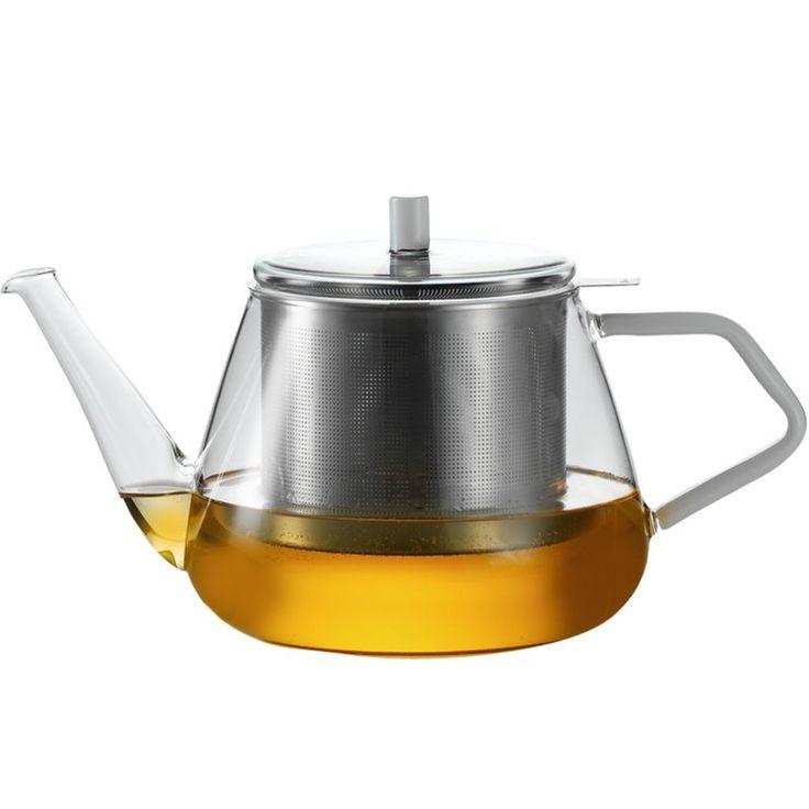 Teekanne mit Deckel und Edelstahlsieb, groß