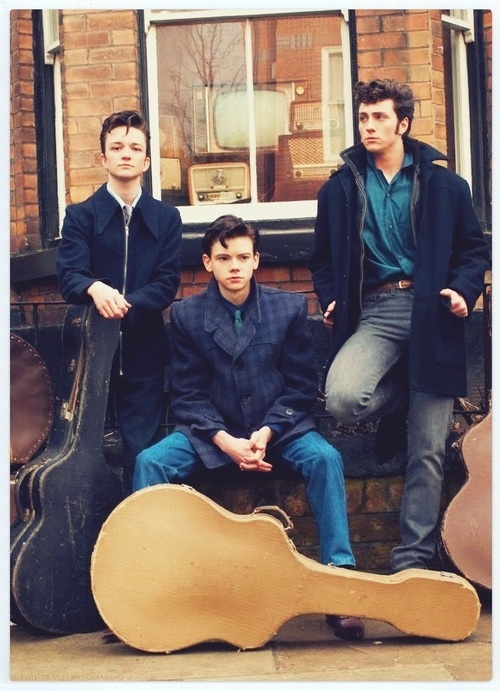 Sam Bell, Thomas Brodie-Sangster & Aaron Taylor-Johnson (Nowhere Boy) Think i might have found the cutest band ever!