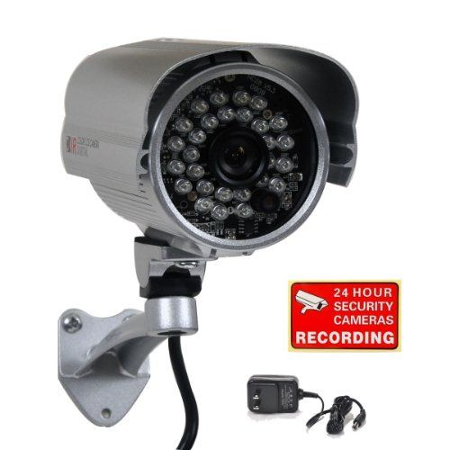 Special Offers - VideoSecu Bullet Security Camera 700TVL Built-in 1/3 SONY Effio CCD Weatherproof Day Night 3.6mm Wide View Angle Lens IR for CCTV DVR Home Surveillance System with Bonus Power Supply IR45HE BCO - In stock & Free Shipping. You can save more money! Check It (July 07 2016 at 04:53AM)…