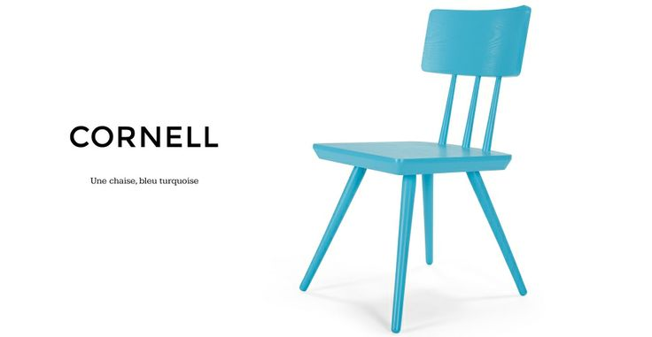 Cornell, une chaise, bleu turquoise | made.com