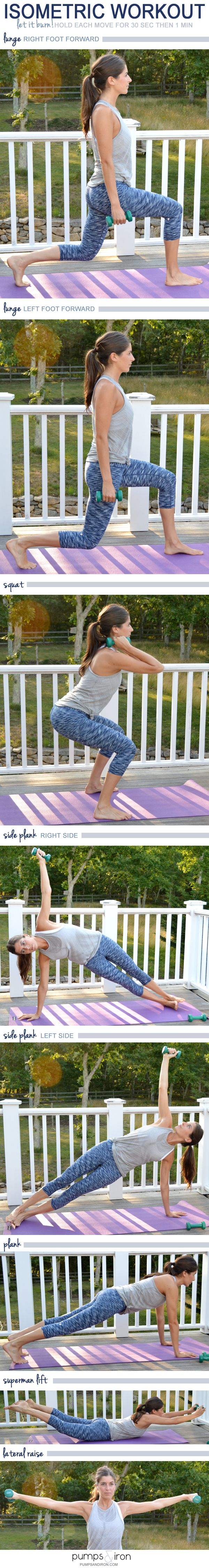 Isometric Workout (perfect for apartment dwellers--no noise!)
