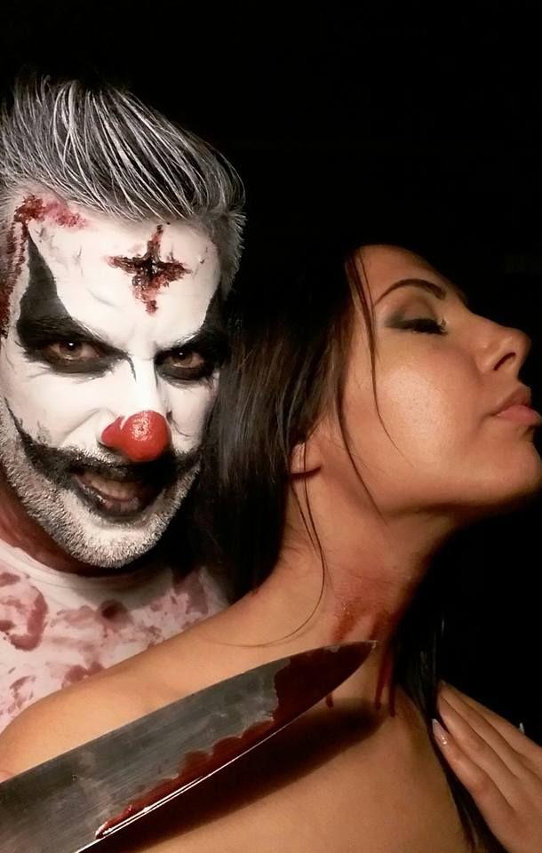 Assassin clown Makeup for Halloween! Attenzione Gioventù Bruciata..il nostro pagliaccio assassino si aggira per la città di Latina e ad Halloween ha promesso che farà nuove vittime!