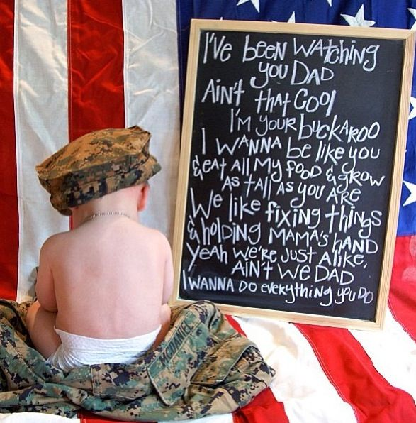 Would be cute for a Daddy on deployment