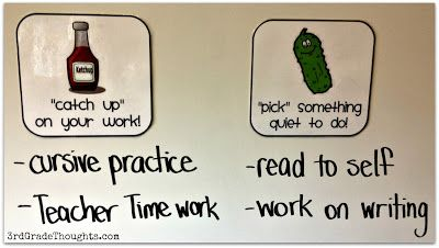 "3rd Grade Thoughts: whole brain teaching ""ketchup and pickle time"" - cute name and great idea!"