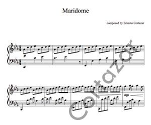 Maridome - Piano Sheet Music now available on ErnestoCortazar.net