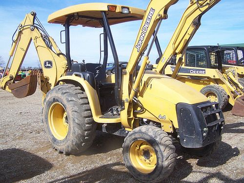 Used John Deere 110 Backhoe Loader Tractor