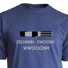 """Original """"Nukular"""" Marken Langarm-T-Shirt für alle Star Wars Fans.  Motiv: """"Lichtschwert"""" Schon mal einen langen Stock in der Hand gehabt ohne das einen unweigerlich diese Geräusche über die Lippen gehen?  Fast unmöglich möchte man meinen. :)"""