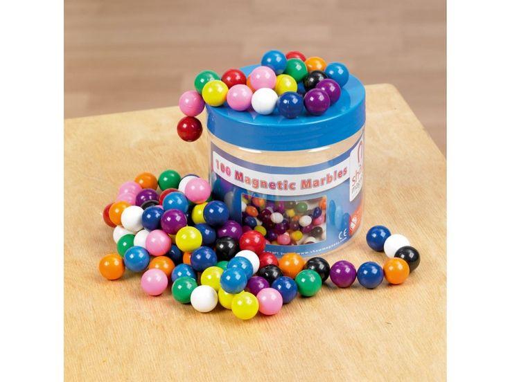 Magnetické kuličky-Shaw Magnets . Hraní s těmito kuličkami rozvíjí u dětí jemnou motoriku a hlavně podporuje jejich fantazii. Sada obsahuje 100 magnetických barevných kuliček o průměru 15 mm.