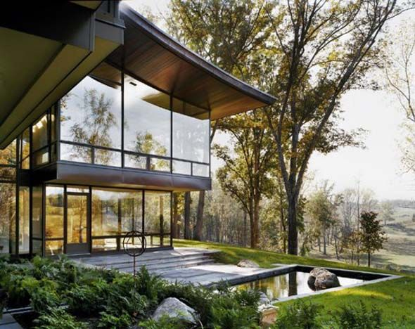 Modern Luxury Glass House Decorating Ideas With Stunning Exterior Design