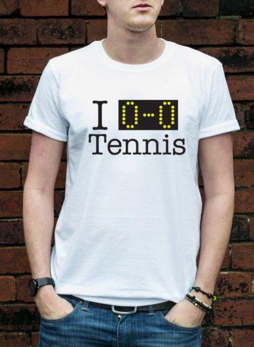 I LOVE ALL TENNIS T-SHIRT funny wimbledon joke mens womans gift cool TSHIRT L356