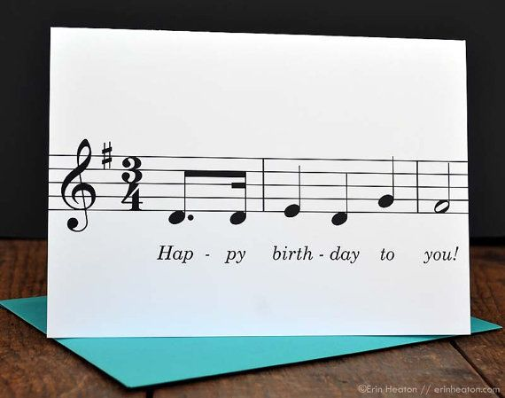 Happy Birthday To You Set Of 5 Music Note Birthday Cards 5 X 7 Happy Birthday To You This Set Of Happy Birthday Music Happy Birthday Song Birthday Cards