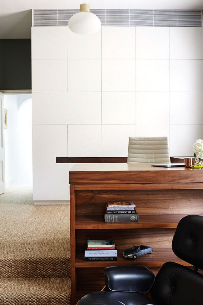 Home Office space. Residential restoration in Sydney by Arent & Pyke.
