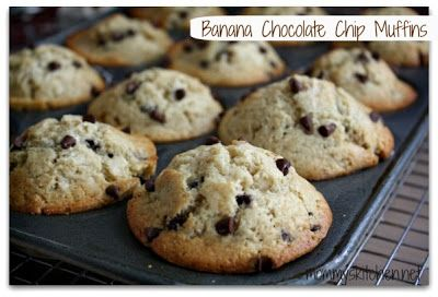 Mommy's Kitchen -  Banana Chocolate Chip Muffins & {A Tate's Bake Shop Giveaway}