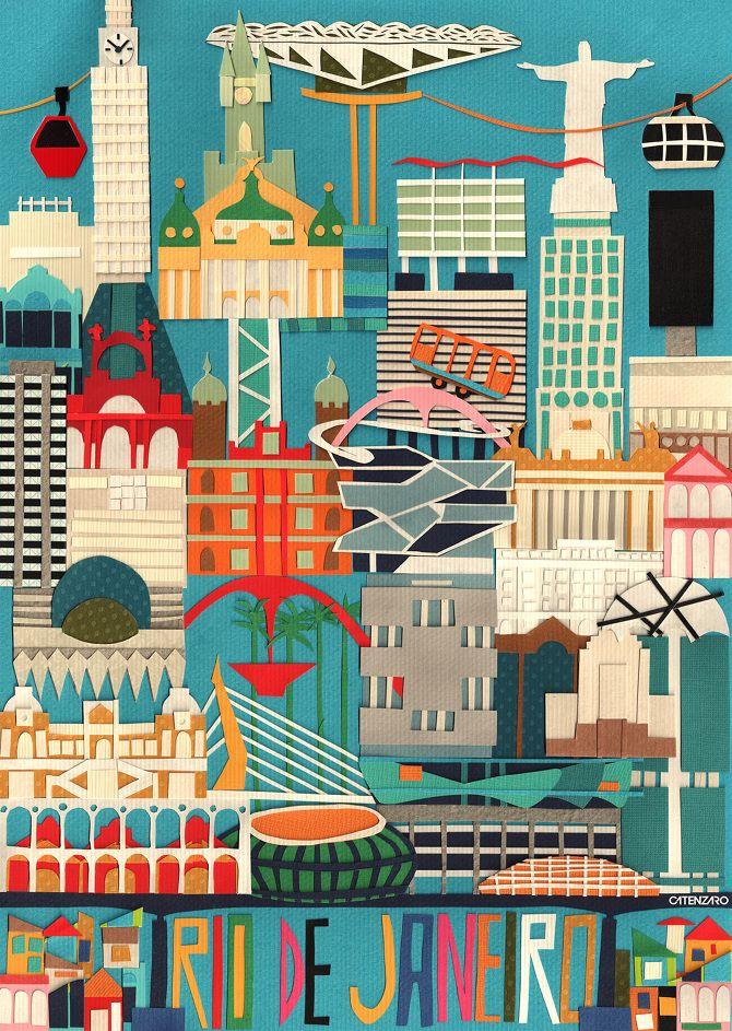 Rio de Janeiro - Adriano Catenzaro | Collage | Art | Design