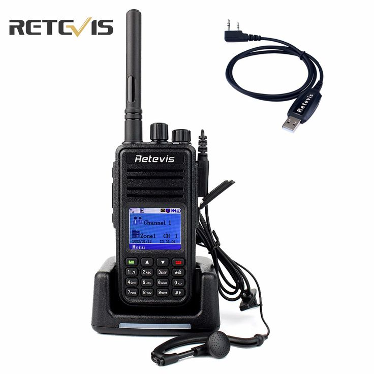 DMR Radio Digital Walkie Talkie Retevis RT3 UHF 400-480MHz 5W 1000CH Ham Radio Hf Transceiver 2 antenna + Program Cable A9110A