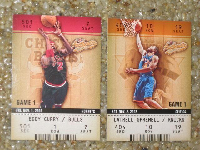 Latrell Sprewell NY Knicks, Eddy Curry Chicago Bulls, Fleer Basketball Cards #ChicagoBulls