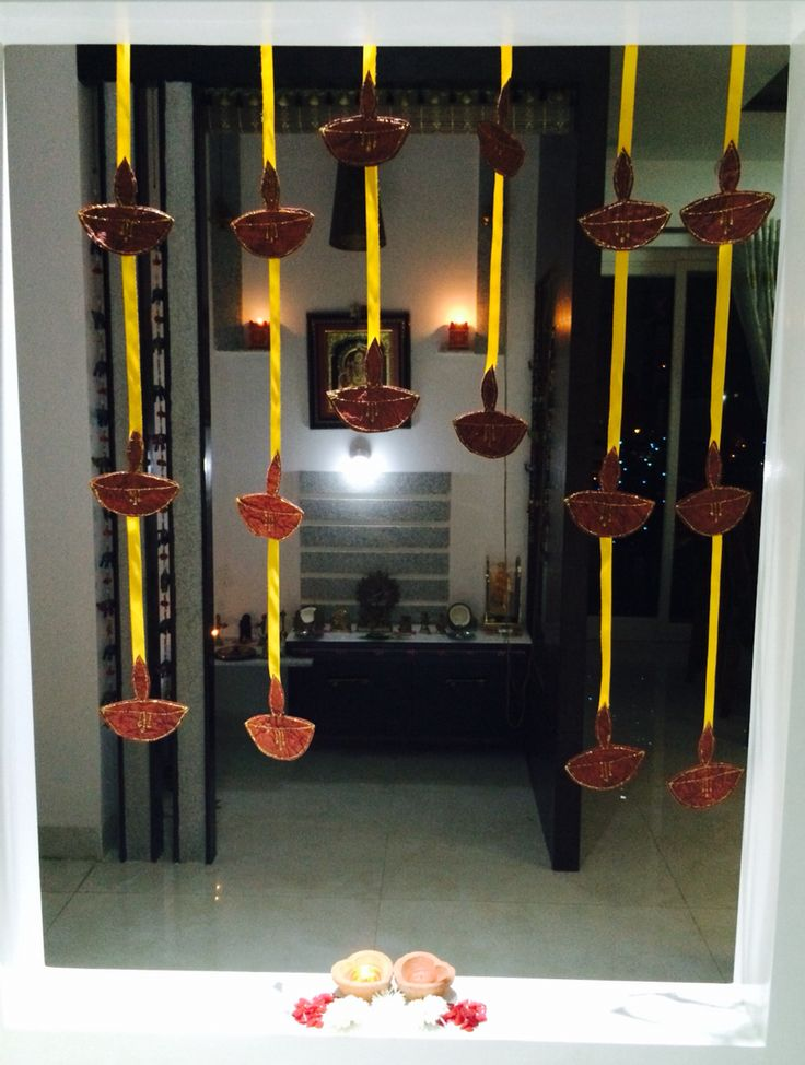 642 best diwali decorations images on pinterest diwali for Simple diwali home decorations